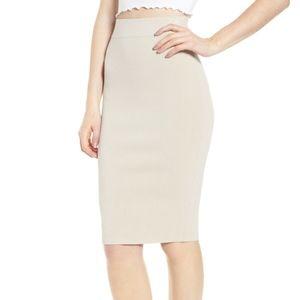 Leith high waist body con pencil knit skirt
